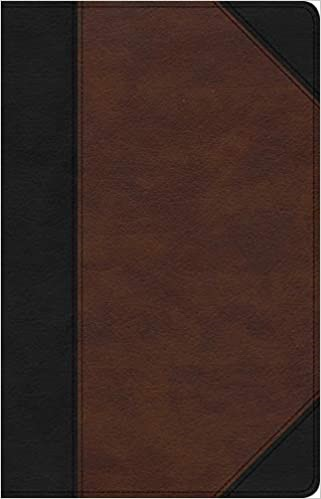 CSB Large Print Personal Size Reference Bible, Black/Brown (Imitation Leather)