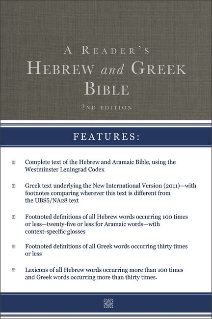 The Reader's Hebrew and Greek Bible (Hard Cover)