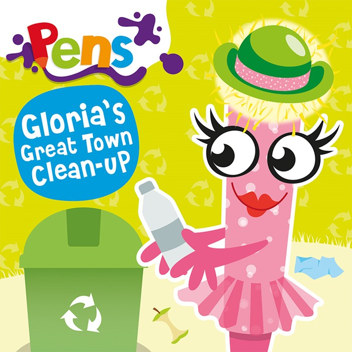 Pens: Gloria's Great Town Clean-Up (Paperback)