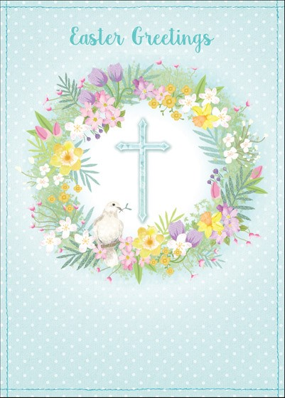 Cross/Dove Easter Cards (pack of 5) (Cards)