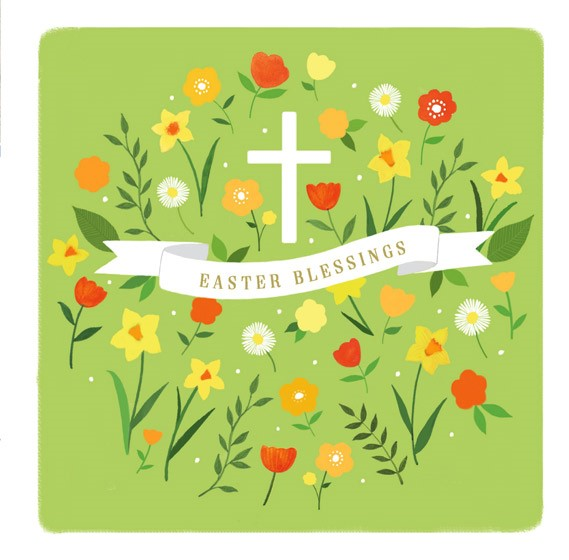 Blessing Scroll Easter Cards (pack of 5) (Cards)