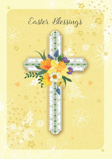 Floral Cross Easter Cards (pack of 5) (Cards)
