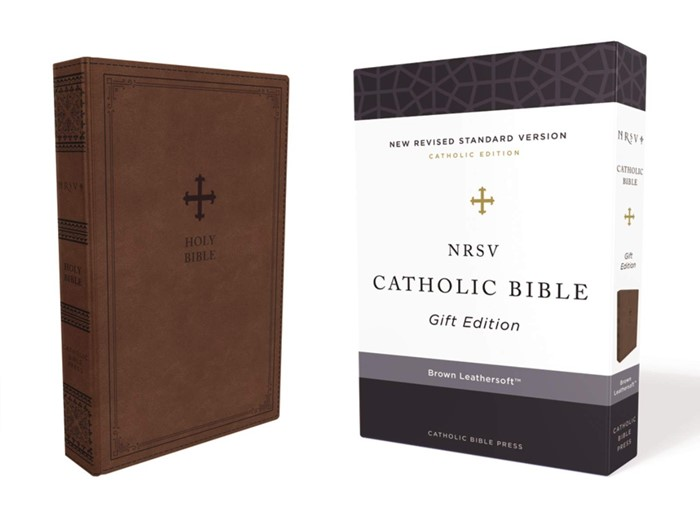 NRSV Catholic Bible, Brown, Comfort Print (Imitation Leather)