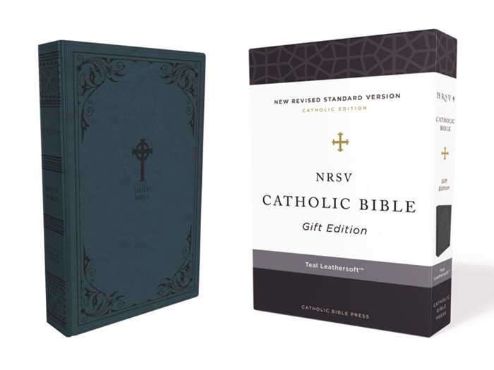 NRSV Catholic Bible, Teal, Comfort Print (Imitation Leather)