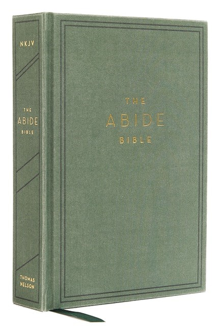 NKJV Abide Bible, Green, Red Letter, Comfort Print (Cloth-Bound)