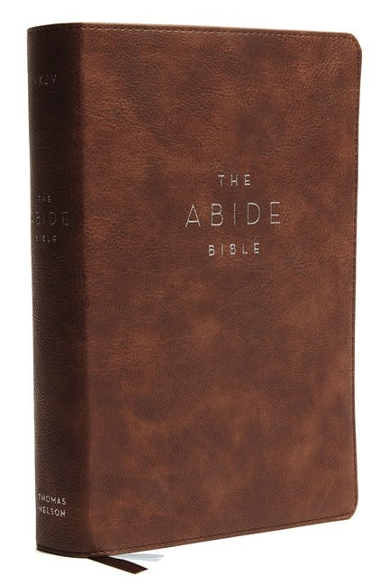 NKJV Abide Bible, Brown, Red Letter Edition, Comfort Print (Imitation Leather)