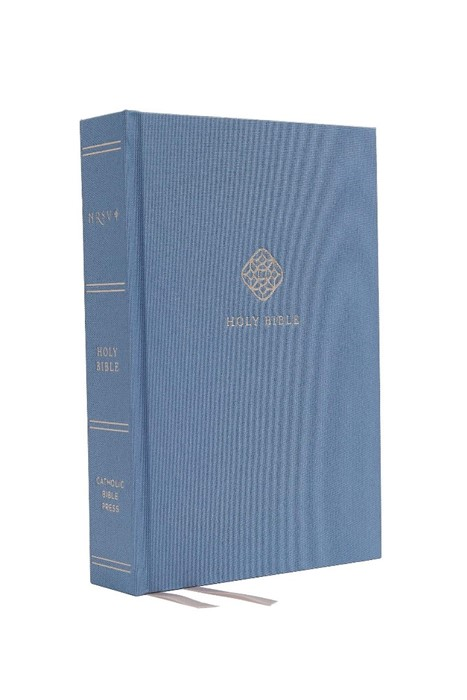 NRSV Catholic Bible, Journal Edition, Blue, Comfort Print (Hard Cover)