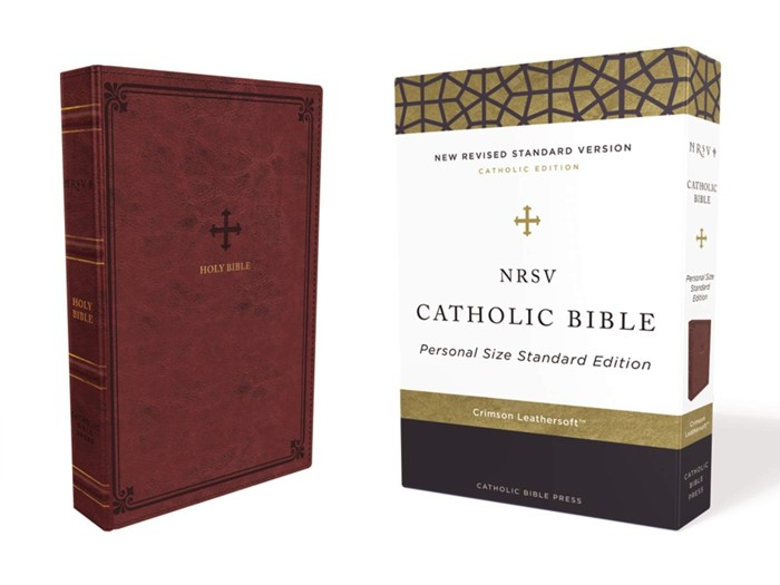 NRSV Personal Size Catholic Bible, Red, Comfort Print (Imitation Leather)