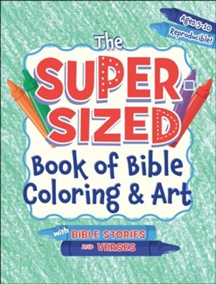 The Super-Sized Book of Bible Coloring and Art (Paperback)