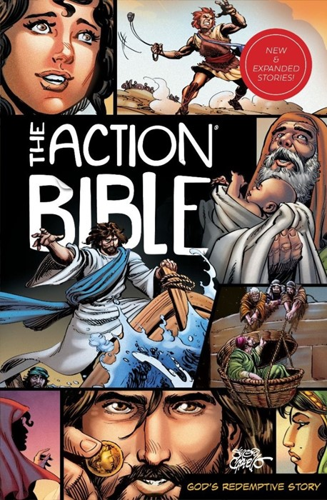 The Action Bible: New and Expanded Stories (Hard Cover)