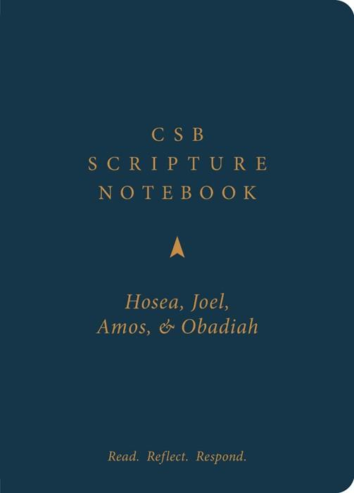 CSB Scripture Notebook, Hosea, Joel, Amos, Obadiah (Paperback)