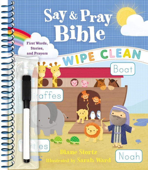 Say and Pray Bible Wipe Clean (Spiral Bound)