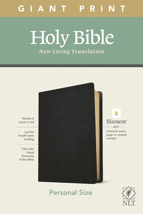NLT Personal Size Giant Print Bible, Filament Edition, Black