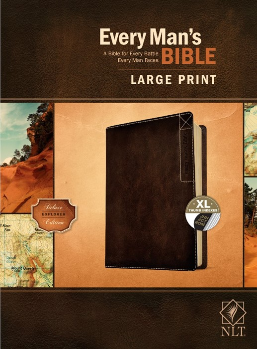 NLT Every Man's Bible, Large Print, Black Genuine Leather (Genuine Leather)