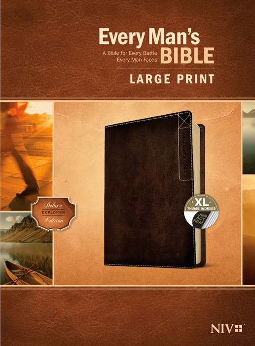 Every Man's Bible NIV, Large Print, Deluxe Explorer Edition (Imitation Leather)