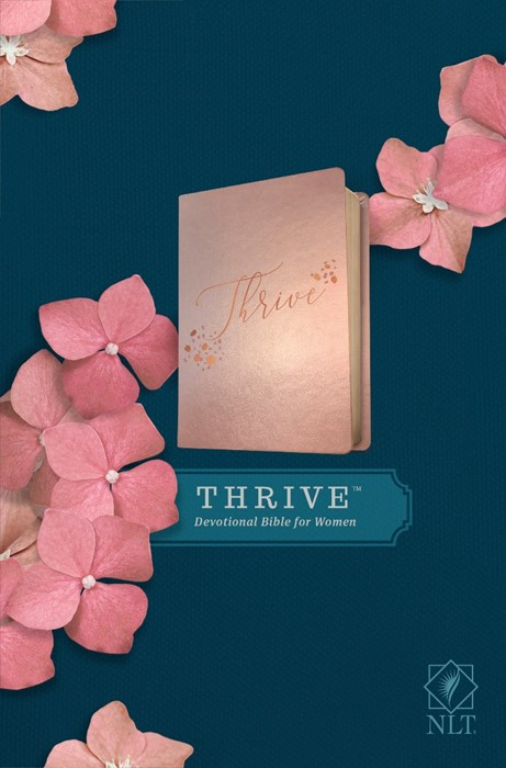 NLT THRIVE Devotional Bible for Women, Rose Metallic (Imitation Leather)