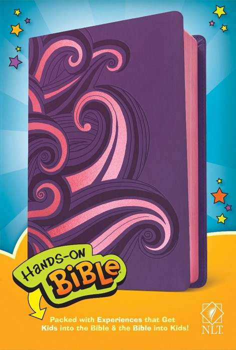 NLT Hands-On Bible (LeatherLike, Purple/Pink Swirls) (Imitation Leather)