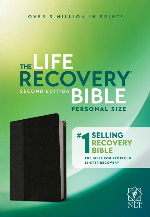 NLT Life Recovery Bible, Second Edition Personal Size, Black (Imitation Leather)