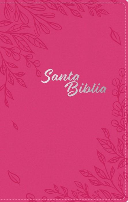 Santa Biblia NTV, Edición zíper, Flores rosa (SentiPiel) (Imitation Leather)