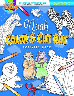 Noah Color and Cut Out Activity Book (Paperback)