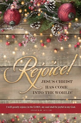 Rejoice! Isaiah 61:10 Bullein (pack of 100) (Bulletin)