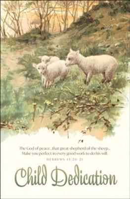 God of Peace Dedication Bulletin (pack of 100) (Bulletin)
