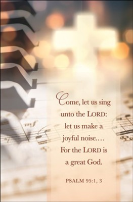 Let Us Sing Unto the Lord Bulletin (pack of 100) (Bulletin)