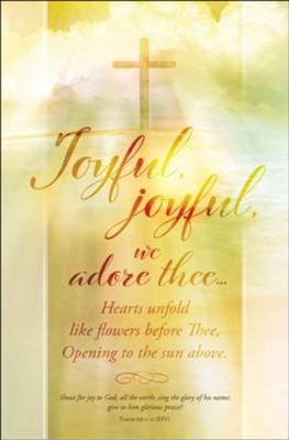 Joyful, Joyful Bulletin (pack of 100) (Bulletin)