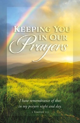 Keeping You in Our Prayers Postcard (pack of 25) (Postcard)