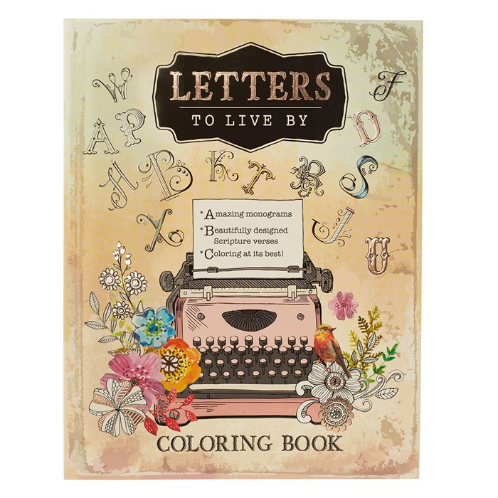 Letters To Live By Colouring Book (Paperback)