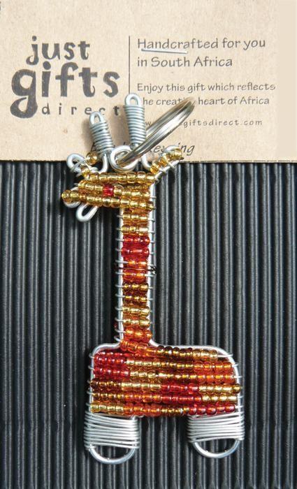 Beaded Giraffe Keyring (Keyring)