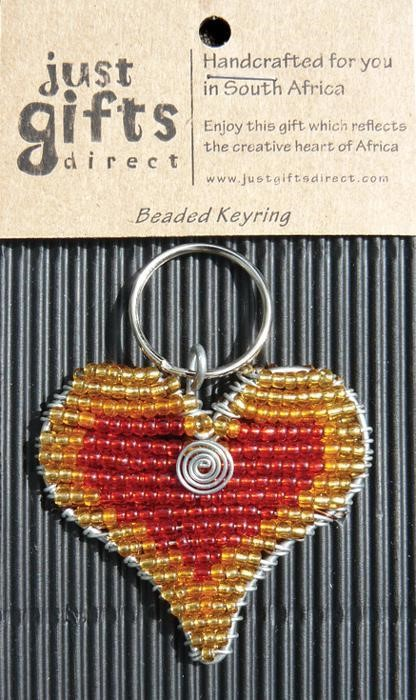 Beaded Red Heart Keyring (Keyring)