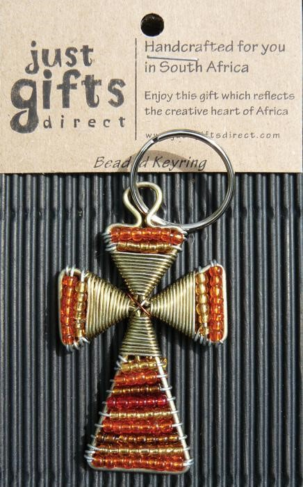 Beaded Cross Keyring (Keyring)