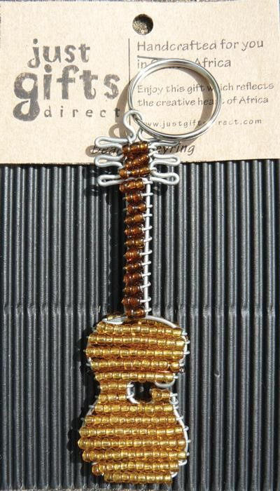 Beaded Guitar Keyring (Keyring)