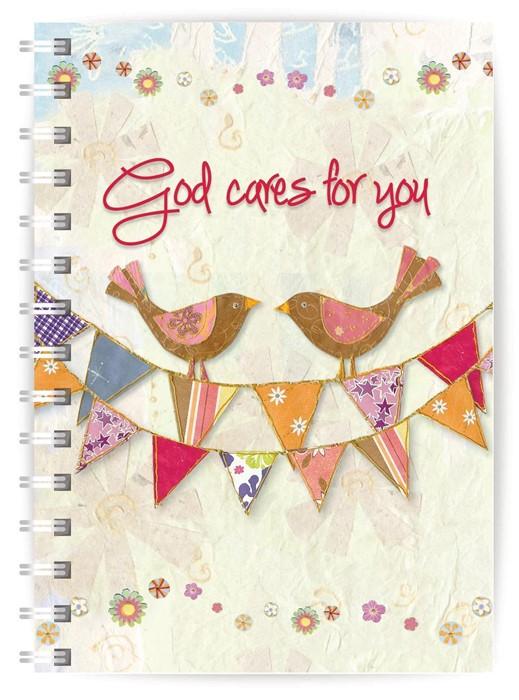 God Cares A5 Notebook (Paperback)