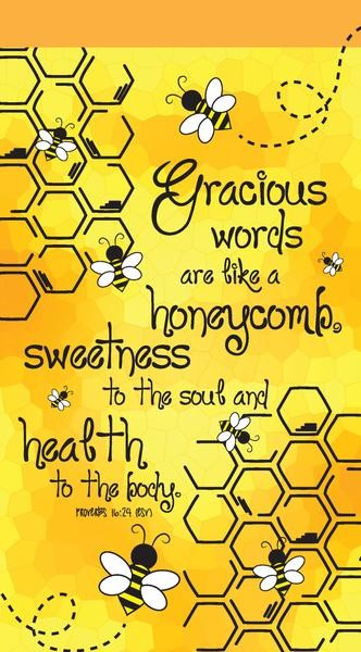 Gracious Words Like Honeycomb Jotter Notepad (Paperback)