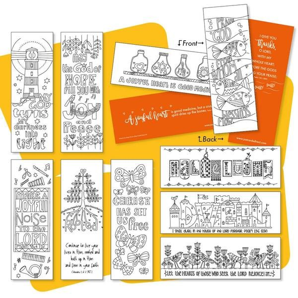 10 Images of Joy Colouring Bookmarks (Bookmark)