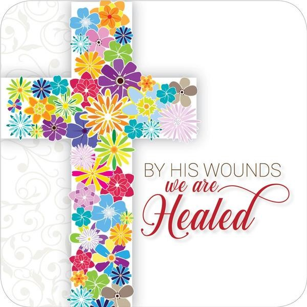 By His Wounds coaster (General Merchandise)