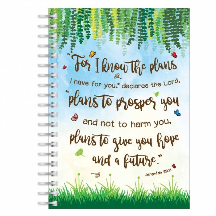 Plans to Give You Hope A5 Notebook (Paperback)