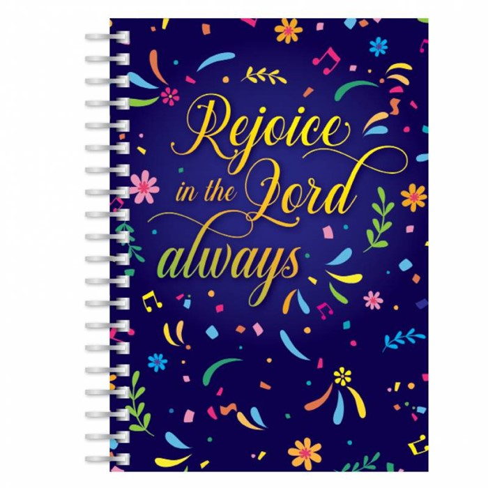 Rejoice in the Lord Always A5 Notebook (Paperback)