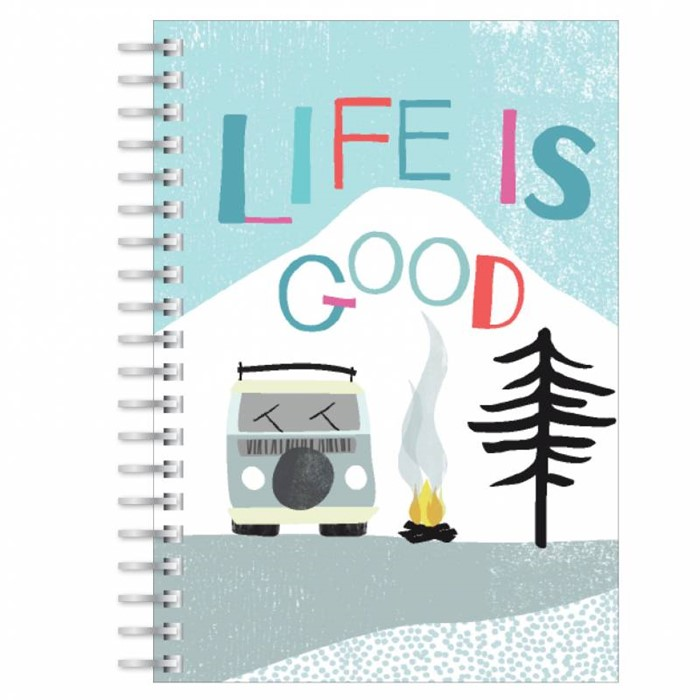 Life is Good A5 Notebook (Paperback)