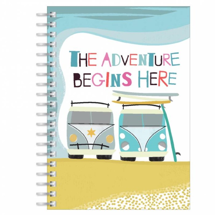 The Adventure Begins Here A5 Notebook (Paperback)