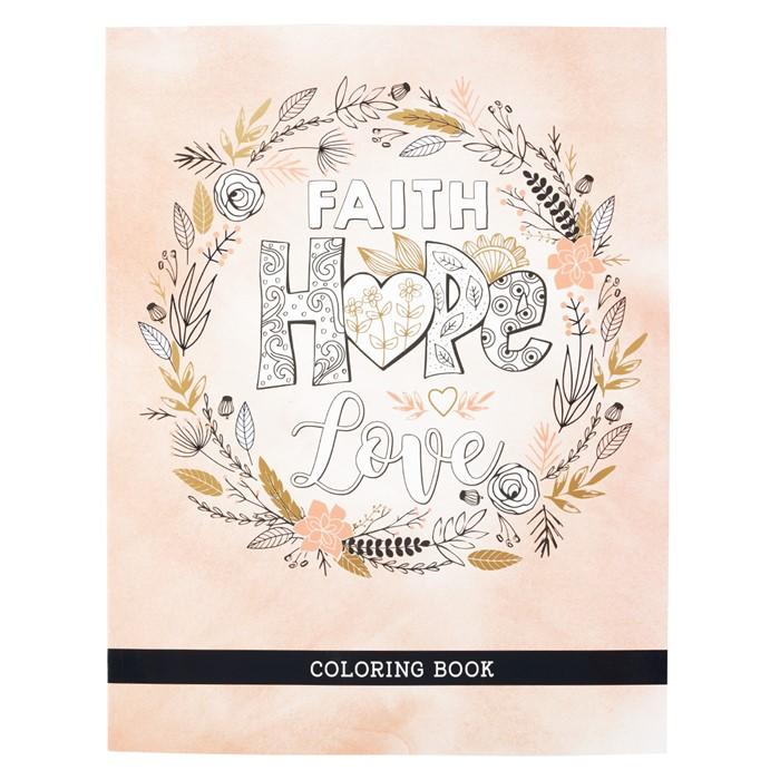 Faith Hope Love Colouring Book (Paperback)