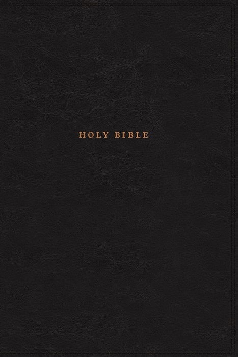 NKJV Reference Bible, Classic Verse-by-Verse, Black (Imitation Leather)