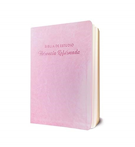 Biblia de Estudio Herencia Reformada, Rosado (Imitation Leather)