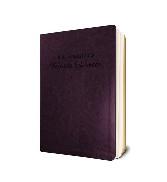 Biblia de Estudio Herencia Reformada, Vino Tinto (Imitation Leather)