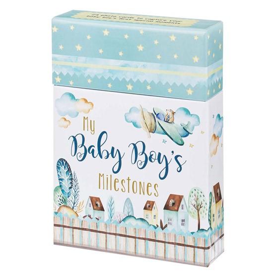 Card Box: Baby Boy's Milestones (Cards)