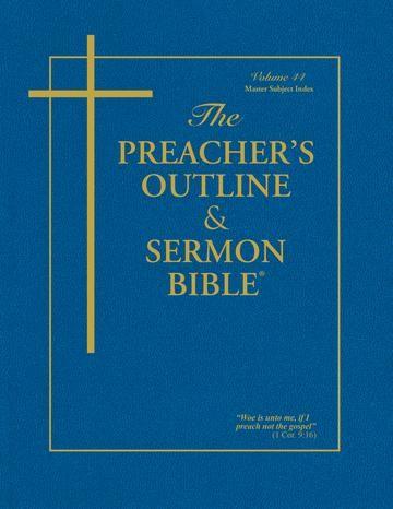 KJV Preacher's Outline & Sermon Bible: Master Subject Index (Paperback)