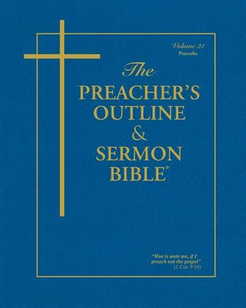 KJV Preacher's Outline & Sermon Bible: Proverbs (Paperback)