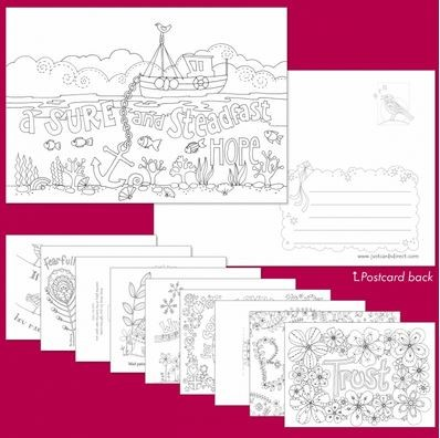 10 Images of Hope Colouring Postcards (Postcard)